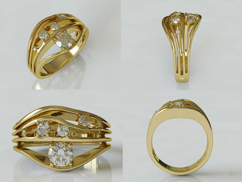 3 piece wedding ring set  Rings  Compare Prices at Nextag