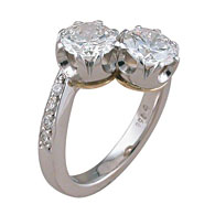 Double Brilliant Cut Engagement Ring