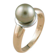 Grey Pear Yellow Gold Ring
