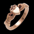 C1306 Claddagh RIng rose gold