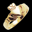 C1453 Claddagh Ring yellow gold