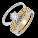 K211L Infinity Solitaire Diamond Celtic Engagement Ring