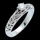 S1421 Irresistible White Gold Diamond Celtic Engagement Ring