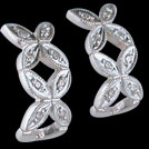 E1999DWT White gold Forever Flower Diamond earrings