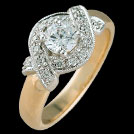 S1555 Crossover Diamond Engagement Ring