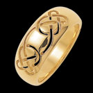 K240L Promise yellow gold Celtic Knot wedding Ring