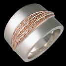 Q1805 Diamond Lines Two Tone Gold Dress Ring