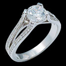 S1910 Diamond Solitaire White Gold Engagement Ring