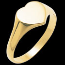 R650 Ladies Heart Signet Gold Ring