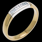 A1118 Two Tone Diamond Baguette Wedding Band