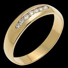 A555D Channel Set Diamond Yellow Gold Wedding Band
