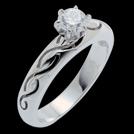 S1408 Calmness White Gold and Diamond Engagement Ring